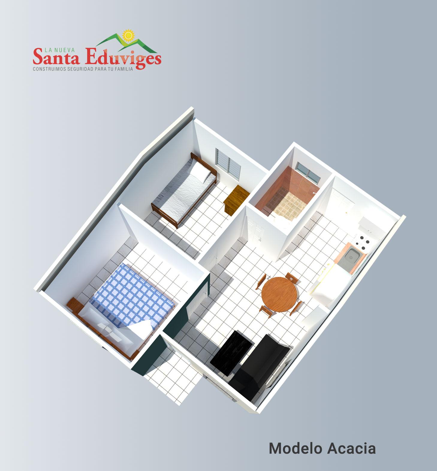 Modelo Acacia Sencilla Planta