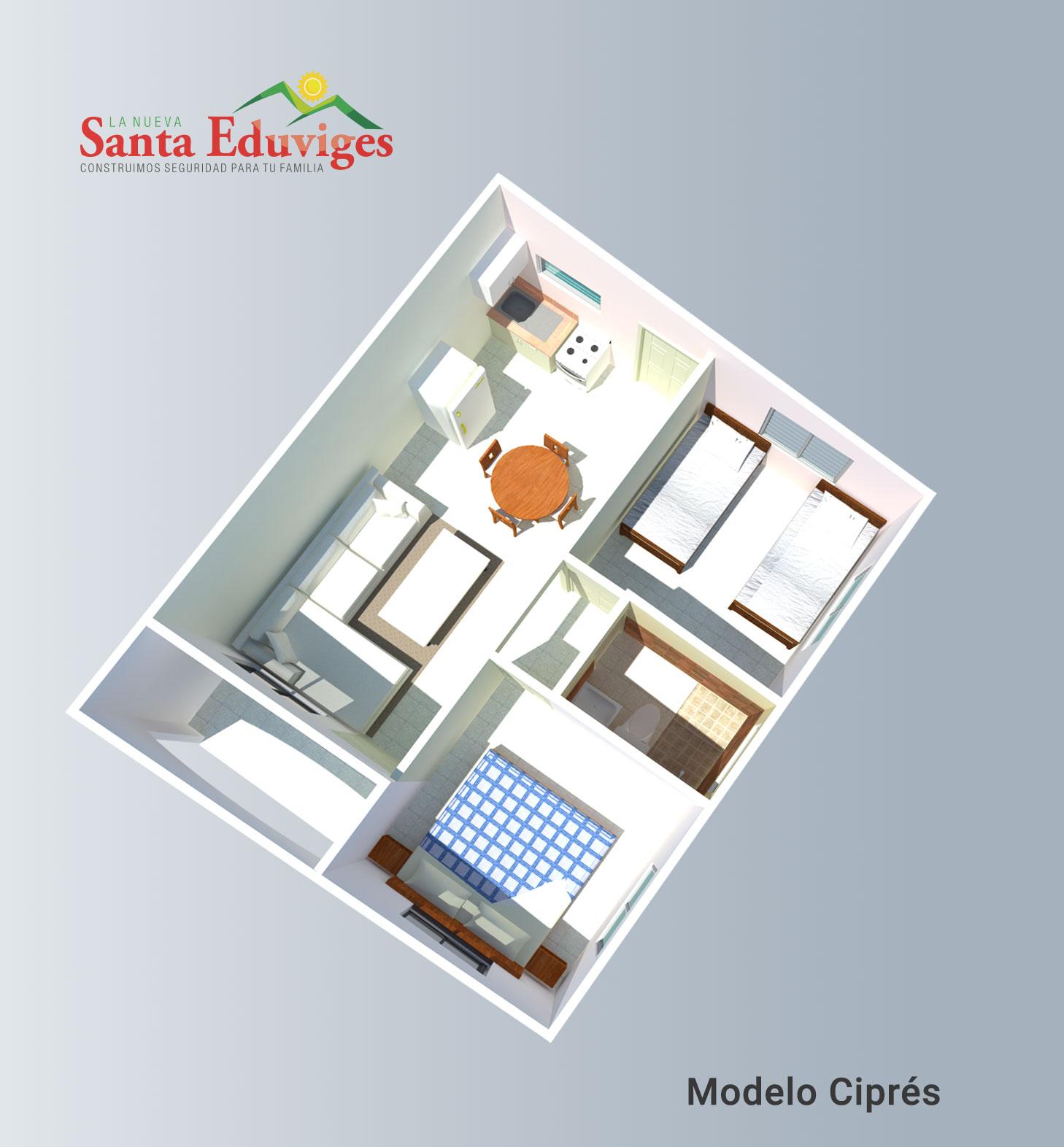 Modelo Ciprés Planta